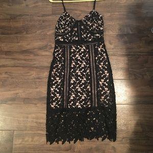 Charlotte Russe Black/Nude Dress
